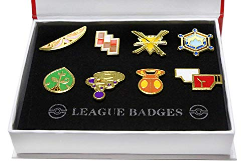 - Pokemon Gym Badges: Kanto Johto Hoenn Sinnoh Unova Kalos League Region Orange Islands Pins Brooches All New in Box Set Gift (Kalos Box Set)