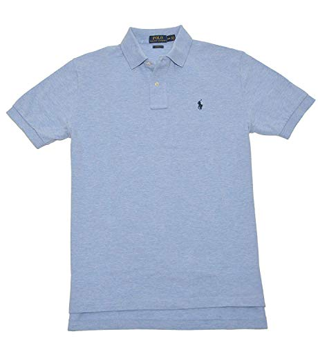 Polo Ralph Lauren Mens Classic Fit Mesh Polo Shirt - XL - Light Blue -