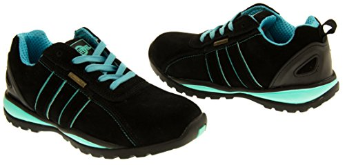 Northwest Territory Ottowa Black And Blue/Green Suede Leather Toe Cap Safety Shoes 8 B(M) US by Northwest (Image #5)