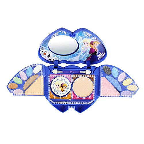 (Disney Children's Cosmetics Suit Toy - Frozen Series Princess Cosmetic Case, Queen Elsa and Princess Anna, Little Girl Makeup Kit, Safety and Non-Toxic, for The Makeup Dreams of)