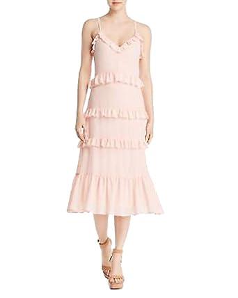 a1a35c79445 Michael Michael Kors Womens Adjustable Straps Ruffled Midi Dress at Amazon  Women s Clothing store