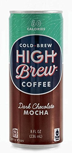 High Brew Coffee Dark Chocolate Mocha Coffee, 8 Fluid Ounce - 12 per case. by High Brew Coffee