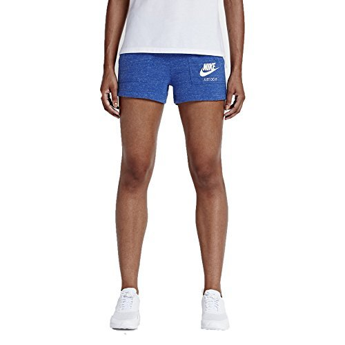 Nike Sportswear Gym Vintage Shorts (Womens) (S, Game Royal/Sail) (Nike Womens Gym Shorts)