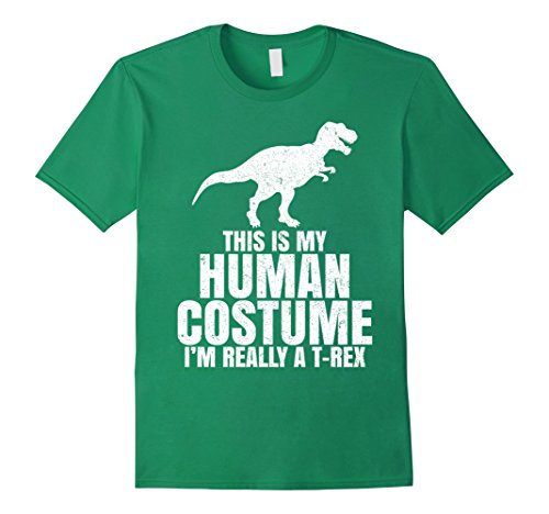 Unique Guys Ideas Costume For Halloween (Mens Funny I'm Really A T Rex Dinosaur Halloween Shirt Costume 2XL Kelly)