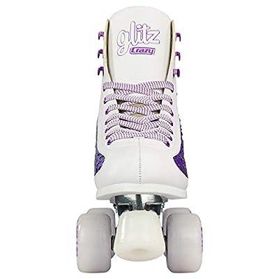 Crazy Skates Glitz Roller Skates for Women and Girls - Dazzling Glitter Sparkle Quad Skates : Sports & Outdoors