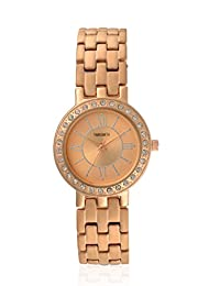 TimeSmith Limited Edition Gold Dial Gold Metal Watch for Women with Matte Finish TSM-112