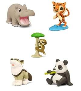 National Geographic Kids - animales salvajes - TIGER, hipopótamo, WOLF, PANDA Y PEREZA 5 artículos (Se distribuye desde el Reino Unido)