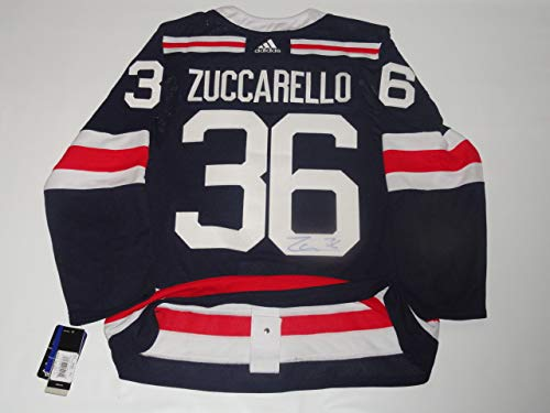 Jersey Authentic (MATS ZUCCARELLO SIGNED ADIDAS 2018 WINTER CLASSIC AUTHENTIC JERSEY 52 JSA COA)