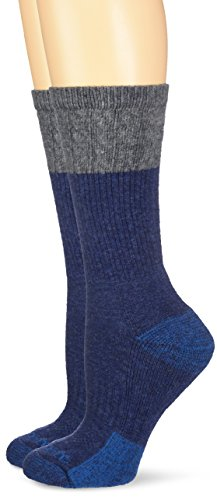 Carhartt Women's 2 Pack Merino Wool Blend Textured Crew, Navy, 5.5-11.5 Shoe/9-11 Sock