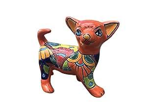 Talavera Chihuahua naranja