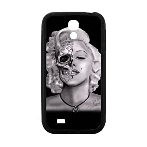 Back Cover - Samsung Galaxy S4 I9500 Rubber Durable Cases Marilyn Monroe Skull TPU Back Laser Technology Samsung Galaxy Cover
