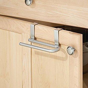 senza montaggio forma a U mDesign porta asciugamani 16,51 cm doppio ideale porta salviette per cucina e bagno acciaio