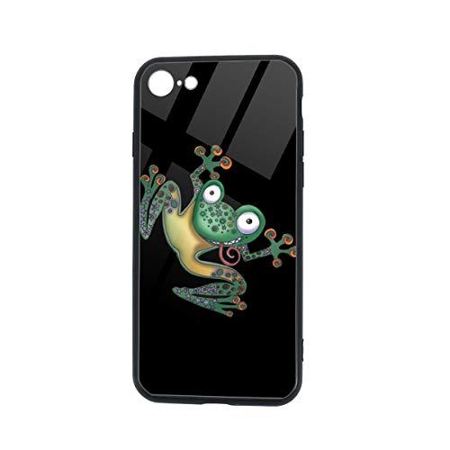 Ssjxzdwz TPU Soft Clear Cover Shockproof Waterproof Frog Prince Glass Phone Case for iPhone 7/8 DIY 5.5 X 2.8(in)