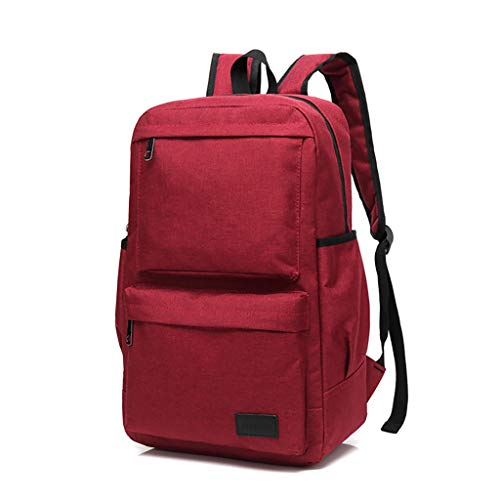 Water Resistant Laptop Backpack for Men & Women Retro Outdoor Oxford cloth Travel Backpack Durable Water Resistant Travel Hiking Camping Outdoor Daypack (Wine)