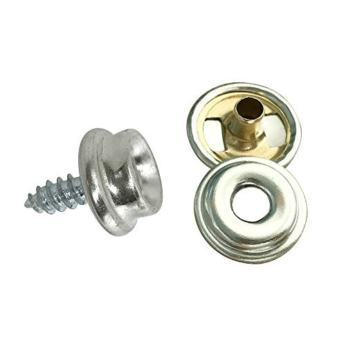 0.375 Awning Window (Fastener Screw Snaps,Marine Grade 60 Pieces Boat Canvas Snaps Stainless Steel Fastener Screw Snaps -3/8