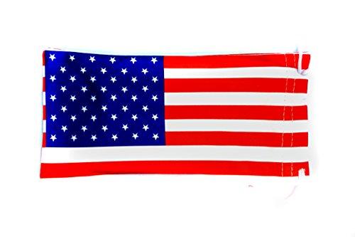 6 PC Sunglass Eyeglass Microfiber Soft Lens Cloth Carry Bag Pouch Case (American Flag)