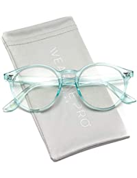 Clear Lens Semi Transparent Clear Frame Colorful Glasses
