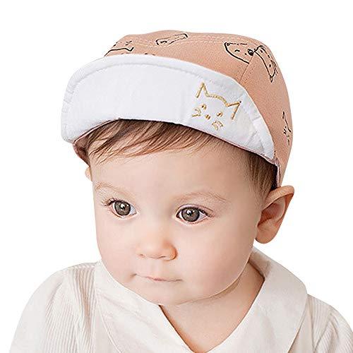 Mysky Fashion Infant Baby Kids Lovely Cute Cat Print Comfortable Bongrace Hat Pink
