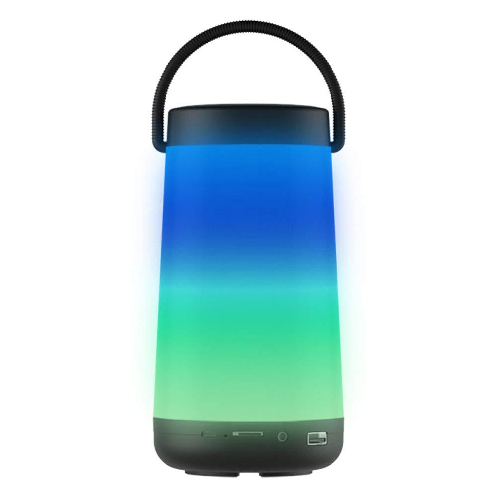 ZZA - Altavoz Bluetooth inalámbrico con luz LED, negro: Amazon.es ...