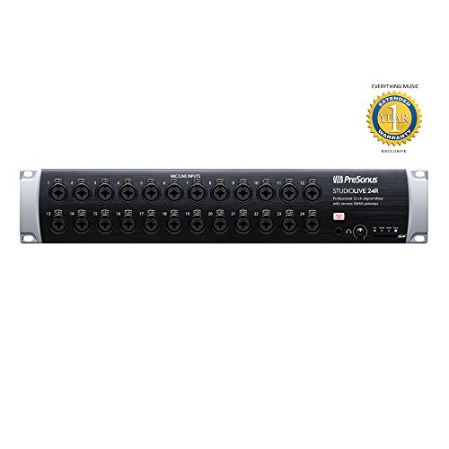 Six Channel Rackmount - Presonus StudioLive 24R 26-input, 32-channel Rackmount Digital Mixer with Microfiber and Free EverythingMusic 1 Year Extended Warranty