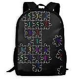 Twinkprint 3D Print Unisex Backpack - Sudoku Jigsaw Puzzle Pattern Lightweight Laptop Bags - Fashion Shoulder Bag School Bookbag Daypacks
