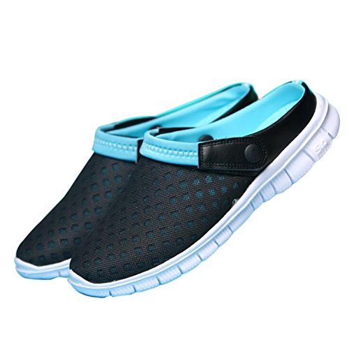 Mesh Meijunter Hollow Sandals Breathable Shoes Blue Net Summer Out Slippers Black Beach qqH5Z