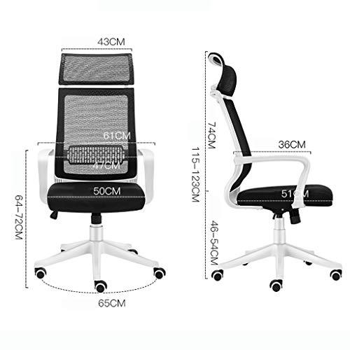 Kontorsstol, designad för den stillasittande korsryggen, datorstol med fyra färger att välja mellan (färg: B)
