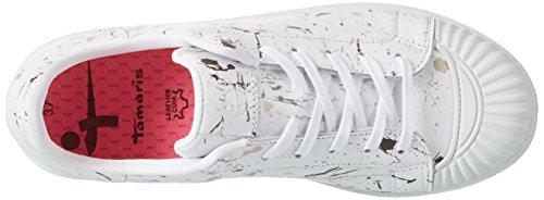 Bianco Donna white Comb Ginnastica Scarpe 197 Basse Da 23637 Tamaris waYpx