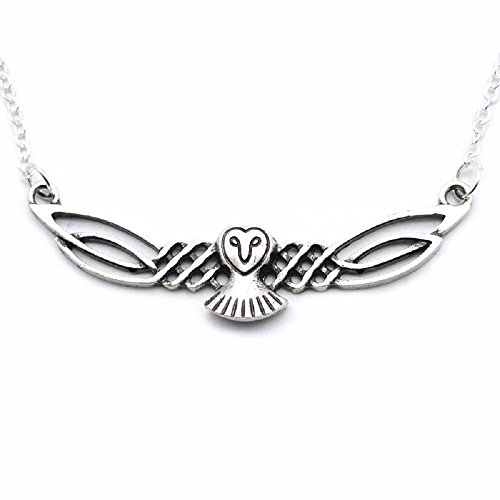HAQUIL Owl Necklace Celtic Viking Owl Pendant Necklace for Women and Men