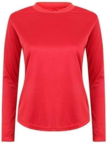 AA Sportswear - Camiseta de manga larga para mujer, transpirable, para correr, gimnasio, para correr, cómodo y deportivo, tejido de secado rápido