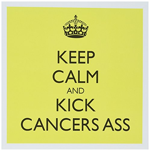 Keep calm and kick cancer's ass - Greeting Card, 6 x 6 inches, single (gc_157443_5) ()