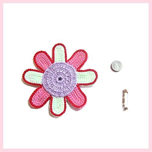 Flor lila rosa y aguamarina para diversas aplicaciones ...