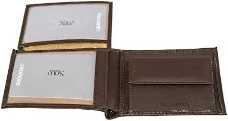 Wallet man SOLO SOPRANI moro in real leather with coin purse and flap A4505