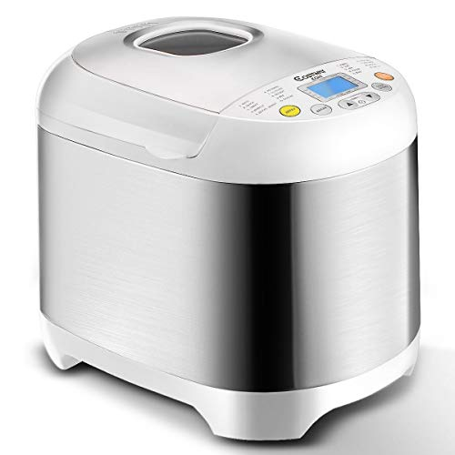 Automatic Bread Machine with 19 Programs, BestComfort 2L Programmable Bread Maker, 15 Hours Delay Timer, 1 Hour Keep Warm (style 2) (Best Rated Bread Makers)