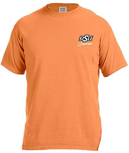 NCAA Oklahoma State Cowboys Women's School Pride Frame Short Sleeve Comfort Tee, Large,Melon - Orange School Pride T-shirt