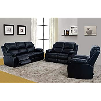 Amazon.com: Lifestyle Furniture Juego de sofá reclinable de ...