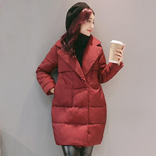 Long And Collections wine Xuanku Female To Jacket Coat Winter Cotton Of Bread Thin Fall Red Cotton Code XwAOU