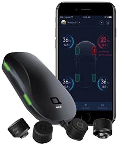 Nonda ZUS - Sistema Monitoraggio Pressione Pneumatici I Previene Scoppi e Fori I 4 Sensori Esterni I Trasmissione Dati Via Bluetooth I App Zus - Nero NDZUSTIRESENS