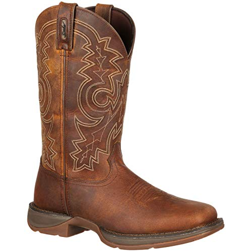 Durango Men's 11 Inch Pull-on Steel Toe DB4343 Western Boot,Brown,8.5 M US