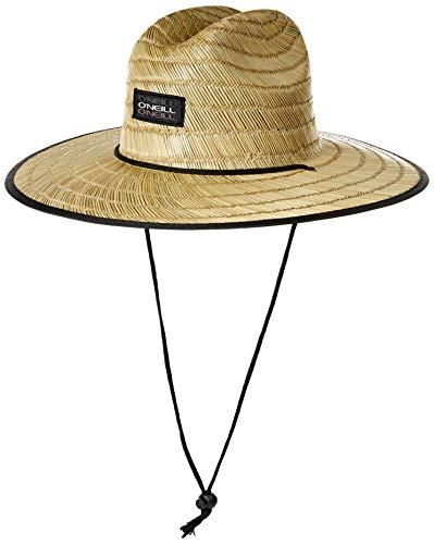 O'Neill Men's Sonoma Print Straw Lifeguard Hat, Asphalt, ONE