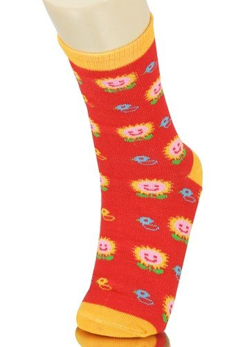 Set of 6 Pair of Toddler Socks Size 1-2 Years Bright Colorful Baby Socks