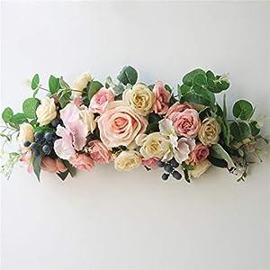 Liveinu Artificial Peony Wreaths for Front Door Flowers Arrangements Wedding Table Centerpieces Wreath Garland for Wall Home Door Garden Office Wedding Decor 109