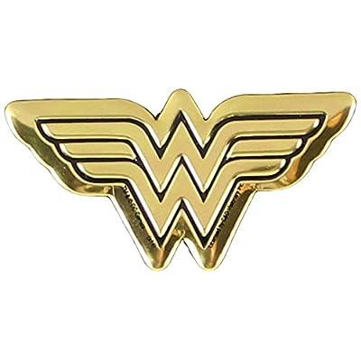 DC Comics Originals Wonder Woman Logo Metal Sticker, Gold, 4cm: Toys & Games