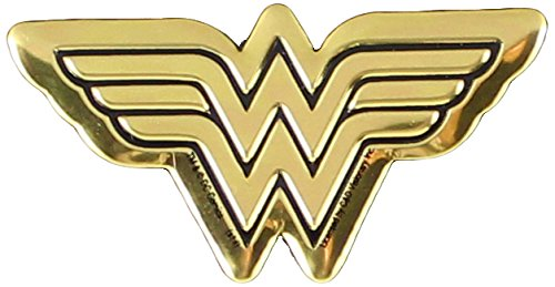 DC Comics Originals, Wonder Woman Logo 4cm Gold Emblem, Small Die-Cut, 1.5' x 1.5 x Officially Licensed & Trademarked Products S-DC-0109-M