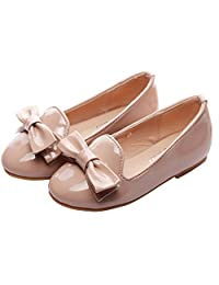 ChicKarl® Children School Girls Patent Leather Bowknot Pumps Flats Shoes