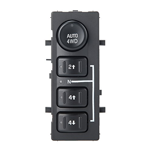 4x4 Wheel Drive Switch, 4WD Transfer Case Selector Switch, Fit 03-06 Silverado Pickup Truck SUV, OE# 15136039