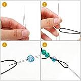 30 Pieces 6 Size Beading Needles Big Eye Beading