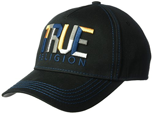True Religion Men's Geo Name Baseball Cap, Black, OSFA