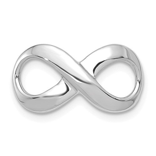 Infinity Pendants & Charms Slides 14k White Gold Fancy Polished Figure-8 Slide Size One size