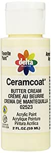 Delta Creative Ceramcoat Acrylic Paint in Assorted Colors (2 Ounce), 02523 Buttercream